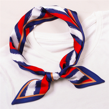 Lady Long Silk Neck Scarf Striped Print Women Skinny Ribbons Scarfs Hair Band Female Bag Handle Scarves Tie Designer 2019