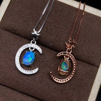 new style opal gemstone necklace with silver