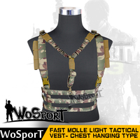 WOSPORT2016 Newest Tactical Hanging Vest Outdoor Paintball Airsoft Multifunction 1000D Nylon MOLLE Military Gun Hanging CS
