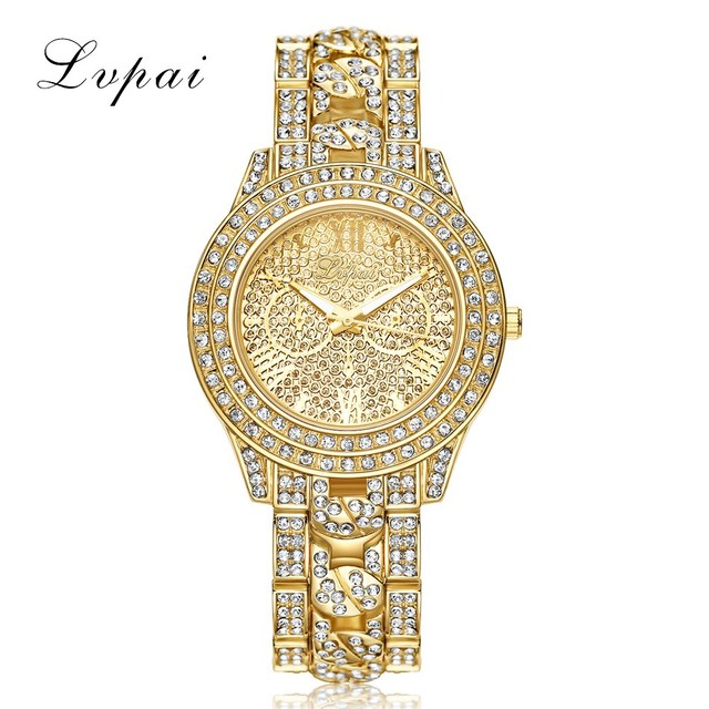 Lvpai Luxury Diamond Watches Women Fashion Brand Stainless Steel