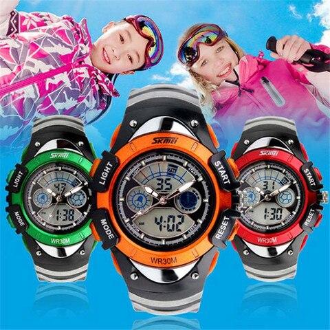 SKMEI Sports Kids Watches Children Watches LED Cartoon Silicone Quartz Digit Watch for boy&girl Student Swimming Wristwatches Karachi