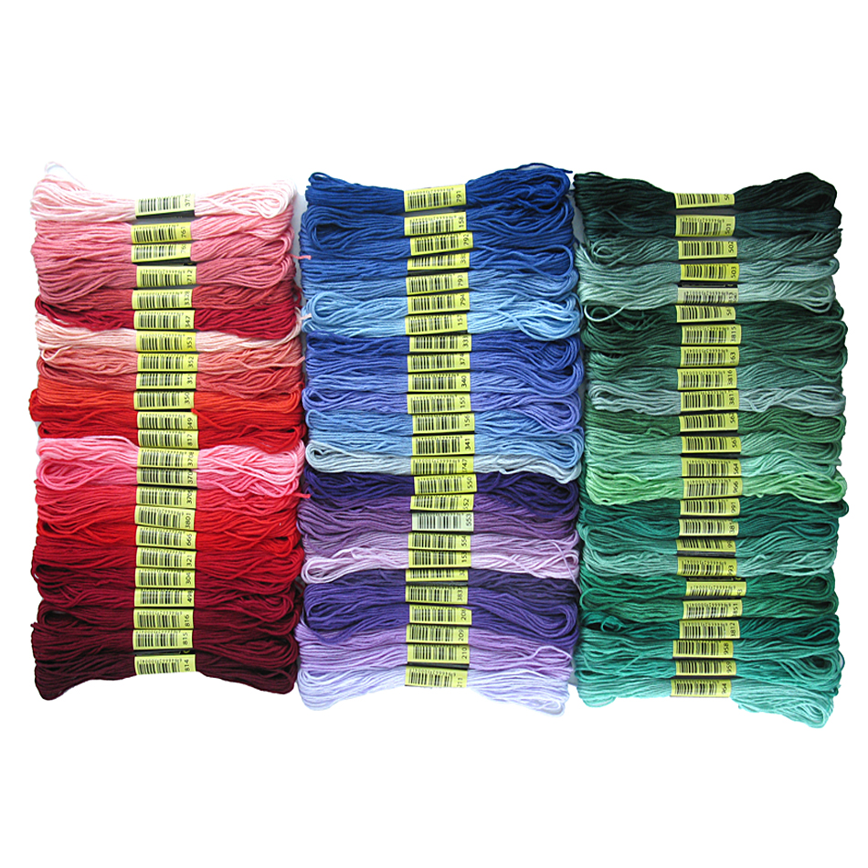 24/50/100/150/200 Colors Dmc Embroidery Thread Floss Cross Stitch Cotton Thread Similar Cross-stitch Kit DIY Sewing