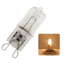 1 супер яркий галогенный светильник G9 25 Вт 40 Вт 60 Вт галогенная лампа G9 220 в 3000 К теплая белая прозрачная галогенная лампа G9 для помещений