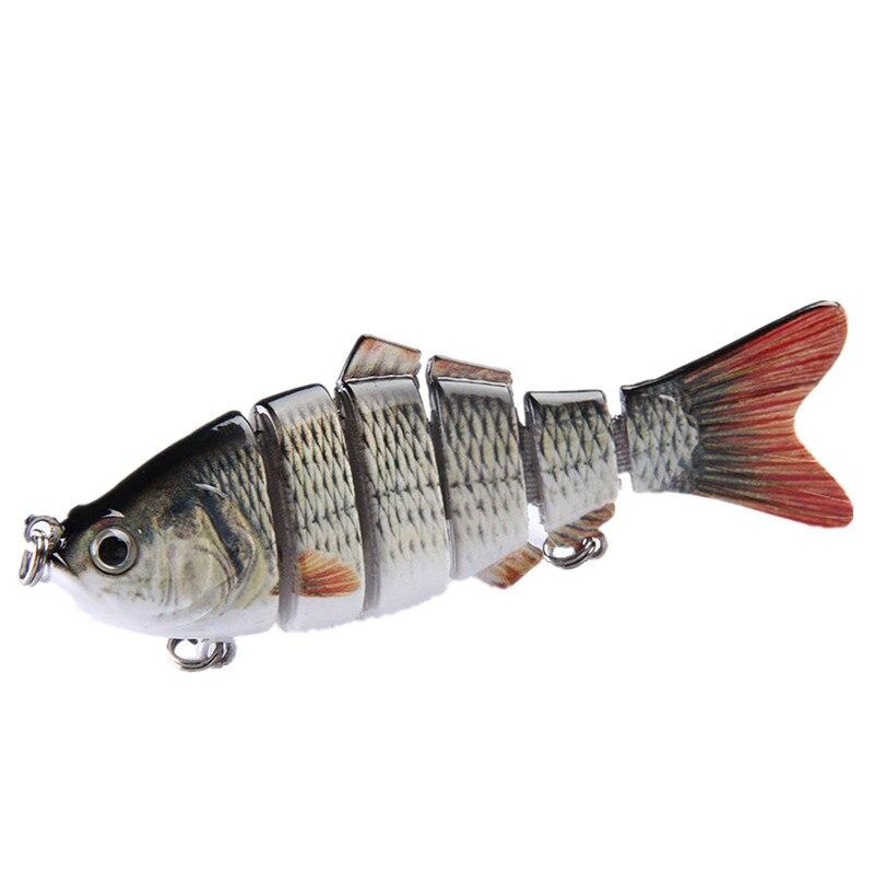 2Pcs/Lot Fishing Lure 6 Segments 97mm/20g Swimbait Crankbait Hard Bait Fresh Shallow Water Bass Catfish Isca Artificial Pesca