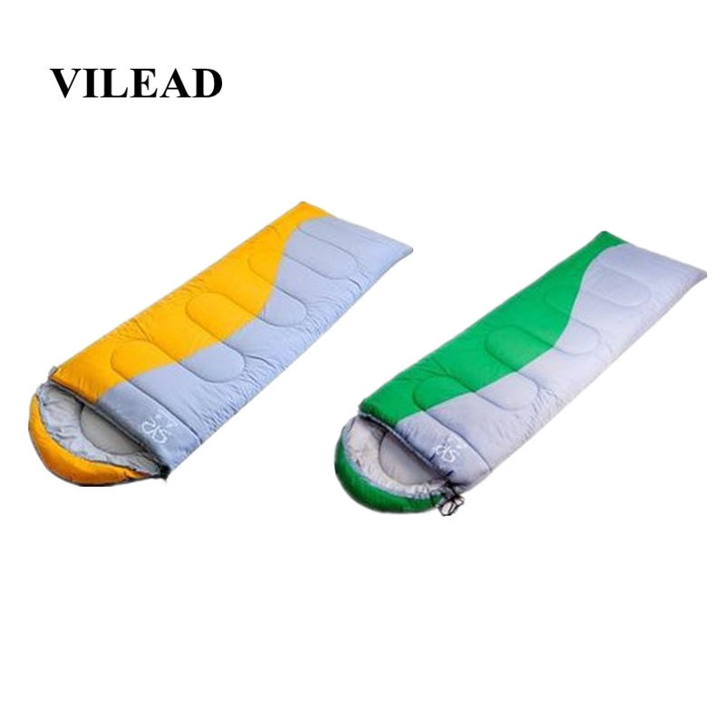 VILEAD 2 Colors Envelope type Ultralight Sleeping Bag Portable Waterproof Winter Hiking Camping Stuff Adult Quilt Lightweight