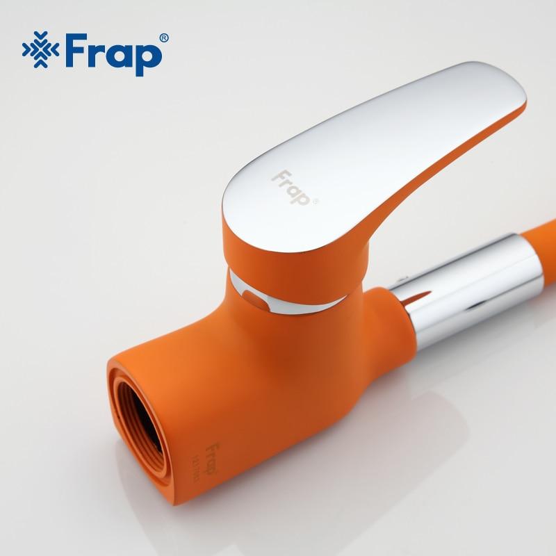 Frap nouveauté Orange Gel de silice nez toute Direction robinet de cuisine eau froide et chaude mélangeur Torneira Cozinha grue F4453-02 - 3