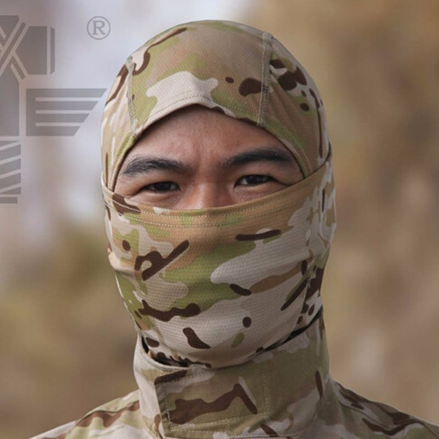 Military Tactical Balaclava Camouflage Airsoft Game Hunting Riding Camping Hiking Cycling Face Mask Neck Protector 3