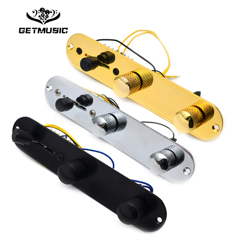 Chrome/Gold/Black 3 Way Wired Loaded Prewired Control Plate Harness Switch Knobs For TL Tele Telecaster Guitar Parts