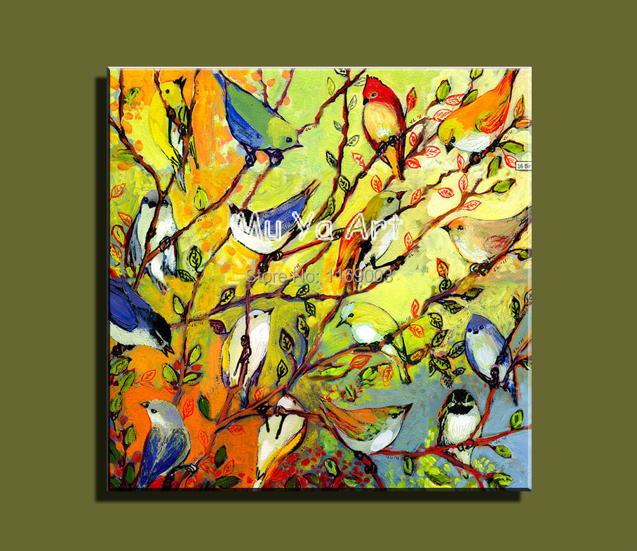 Large Abstract modern canvas art famous artwork family oil painting ...