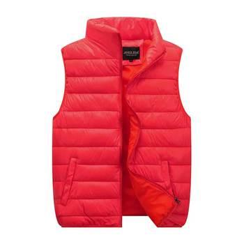 цена на br new Autumn winter Vest Men Fashion Stand Collar Couple Men's down Cotton vest women Man Winter Waistcoats Plus Size 5XL