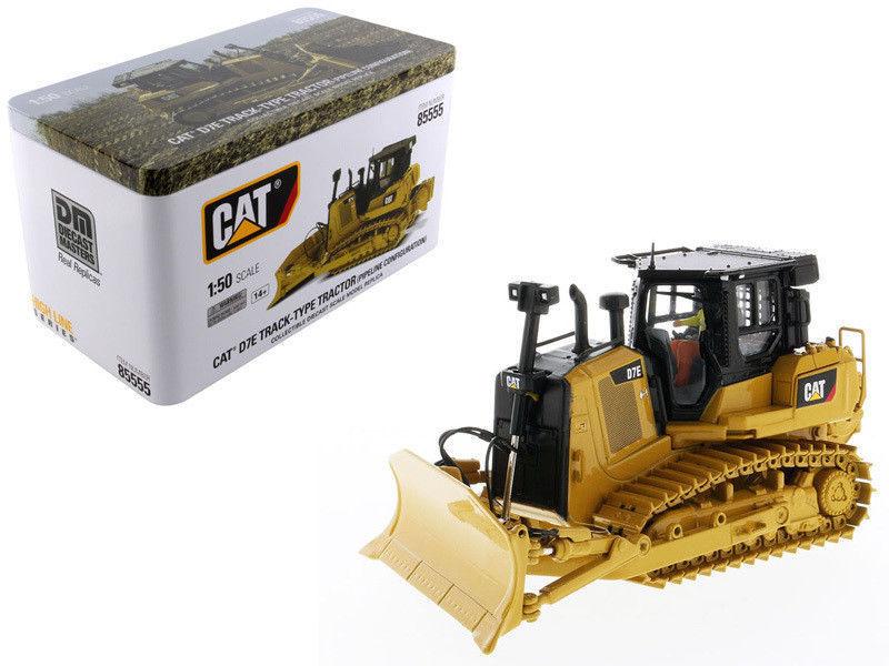 Alliage de collection modèle DM 1:50 échelle CATERPILLAR CAT D7E TYPE de voie tracteur bulldozer par les maîtres moulés sous pression 85555 pour cadeau, décoration