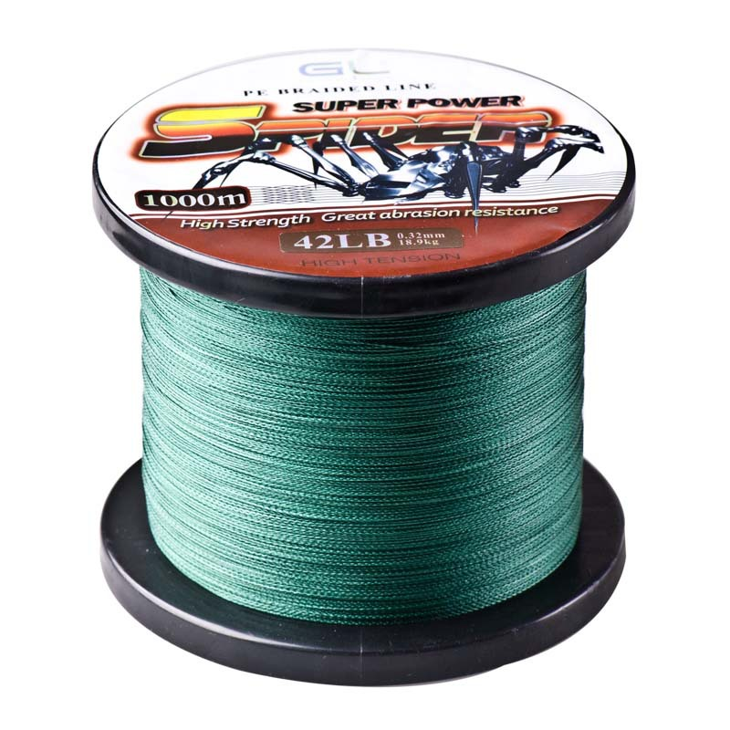 1000m Super Power Multifilament 4 Strands PE Braided Fishing Line 12-80LB Spider Cord Carp Linha De Multifilamento Para Pesca стоимость