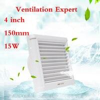 Glas fenster Belüftung fan 4 zoll Stille festigkeit 100mm bad Wc wand Wasserdicht ventilator entfernen TVOC HCHO PM2.5