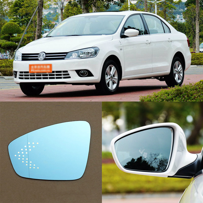For Volkswagen Jetta Brand New Car Rearview Mirror Blue Glasses LED Turning Signal Light with Heating for volkswagen sagitar brand new car rearview mirror blue glasses led turning signal light with heating