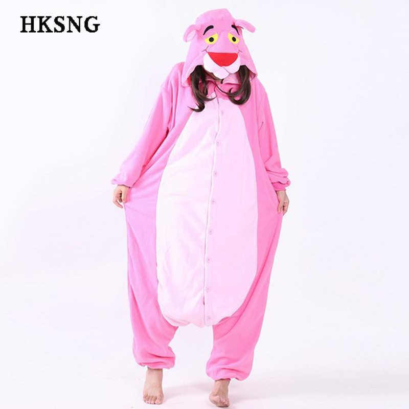 HKSNG New Leopard Pink Panther Pajamas Good Quality Winter Animal Unisex  Soft Warm Onesies Adult Kigurumi 0dd3709ed7bc0
