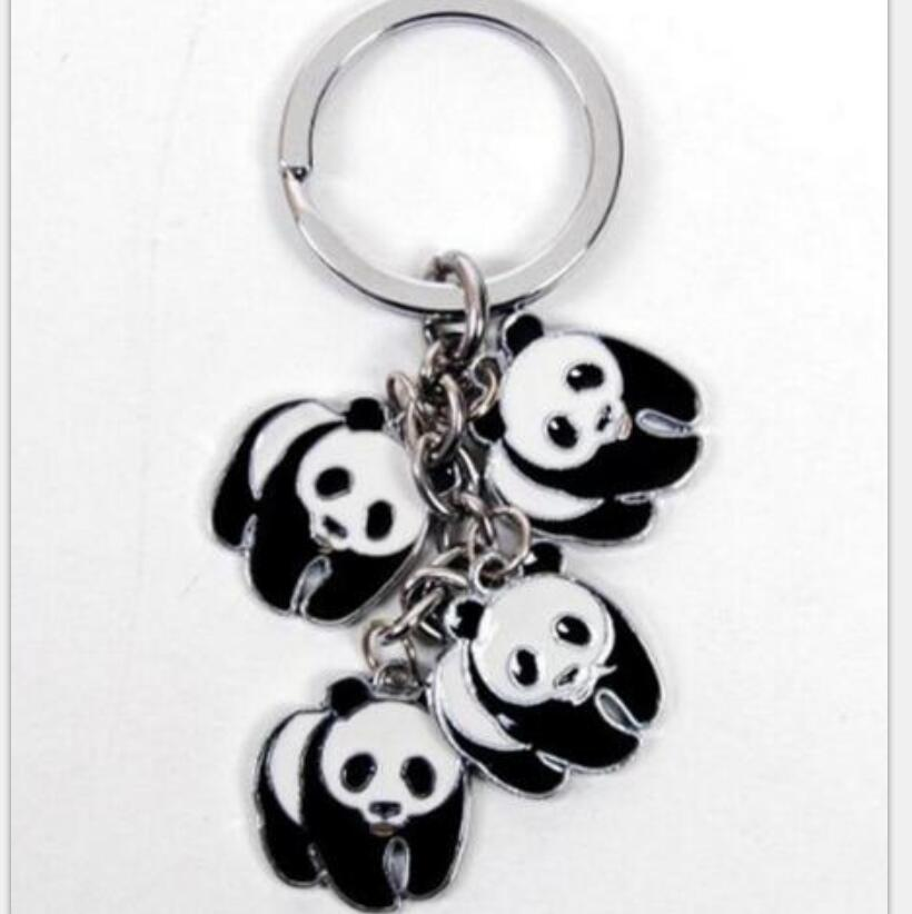 Panda Charms Keychain For Keys Car Key Ring Souvenir Gifts Couple Handbag Jewelry Accessories Christmas Gif in Key Chains from Jewelry Accessories