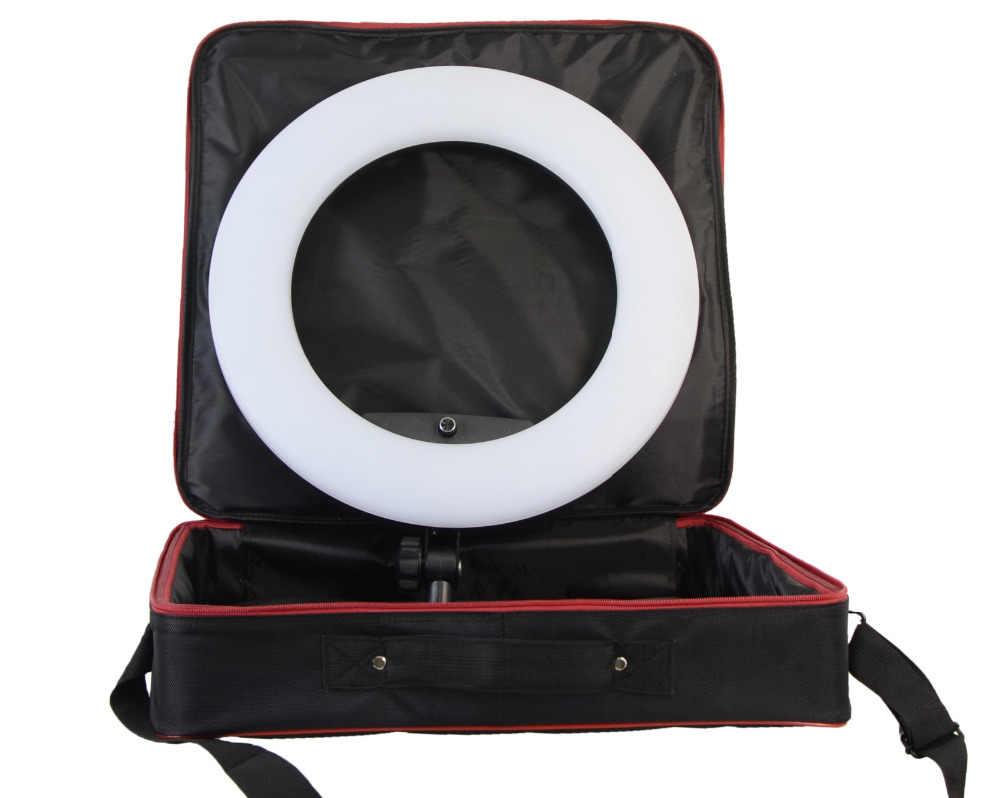 Yidoblo ピンク FD-480II LED リングランプライトが照明 sefie リングランプセット + 立ち (2 メートル) + バッグ + 電池