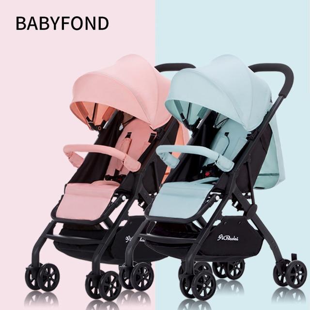 Tweeling kinderwagen 4.9KG Kan Worden Split baby Kan Zitten en Liggen Ultra-lichtgewicht opvouwbare Dubbele Baby vervoer draagbare auto
