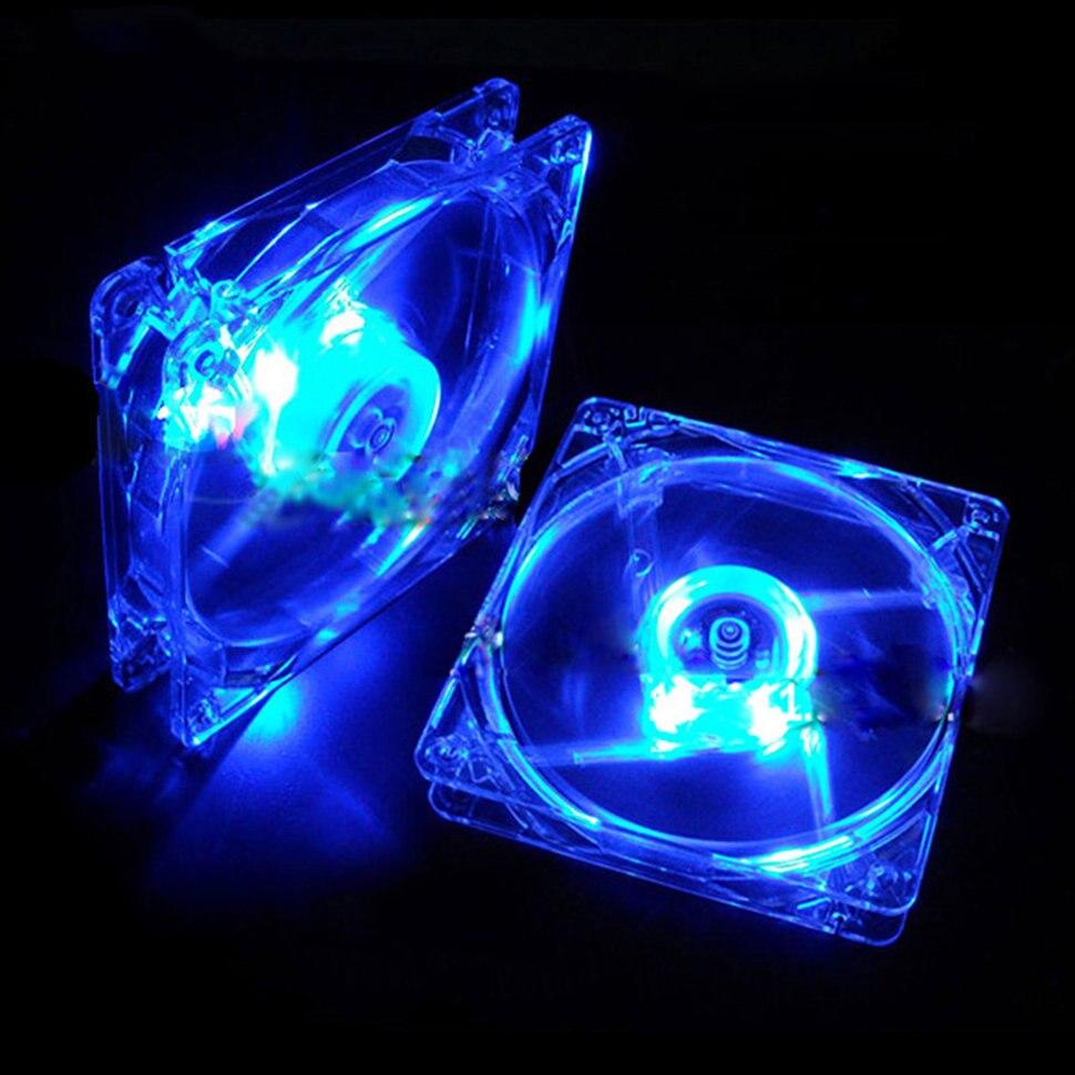 Охлаждающий вентилятор, Компьютерный Вентилятор Quad 4, светодиодный светильник 120 мм, чехол для компьютера, охлаждающий вентилятор, модный тихий Molex коннектор, легкий светодиодный вентилятор 12 В - Цвет лезвия: Blue