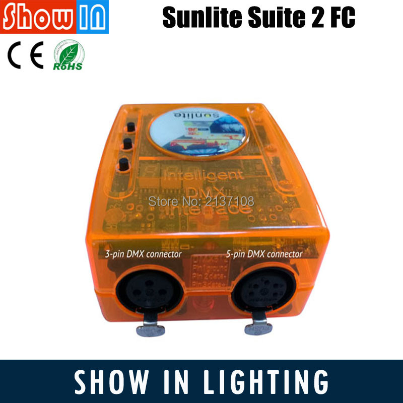 Sunlite Suite 2 FC USB DMX Interface Controllers Lighting Controladora DJ Console Software Economy Class Console Free Shipping ...
