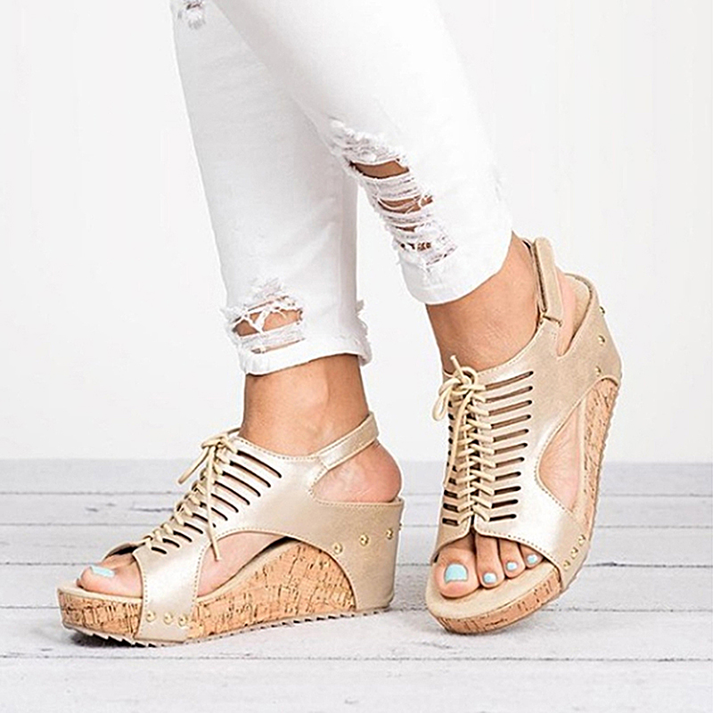 Platform Sandals Wedges Shoes For Women Heels Sandalias Mujer Summer Shoes Women Sandals Leather Wedge Heels Sandals 40- 43Platform Sandals Wedges Shoes For Women Heels Sandalias Mujer Summer Shoes Women Sandals Leather Wedge Heels Sandals 40- 43