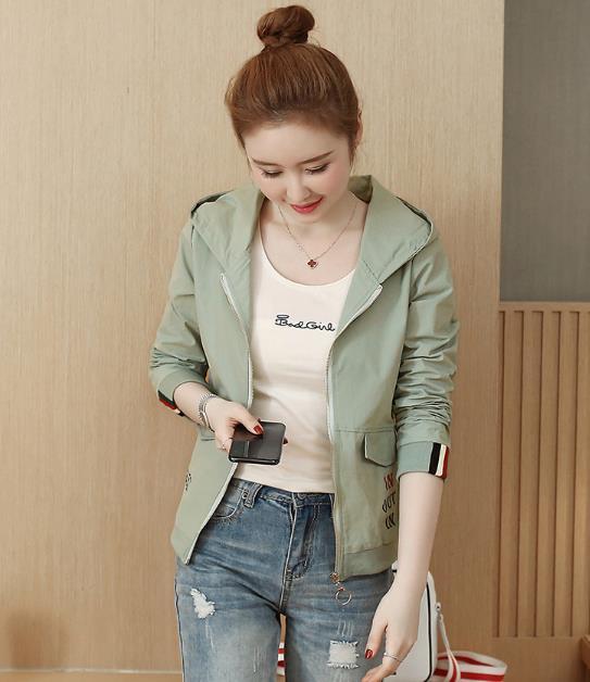 Women's Fashion new Korean version loose wild jacket Outwear baseball uniform short Womens Coat 34