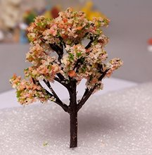 Cute Flowers Tree Resin Crafts Micro Landscapes DIY Dollhouse Bonsai Figurine Miniatures Fairy Garden Ornament Decorations
