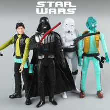 15cm Star Wars Toy Jedi Yoda Darth Vader Han Solo Stormtrooper Action Figure The Force Awakens Galaxy people Anime Figures
