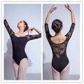 Ballet Leotard For Women Pure Cotton Black Ballet Dancewear Adult Dance Practice Clothes Gymnastics Leotard