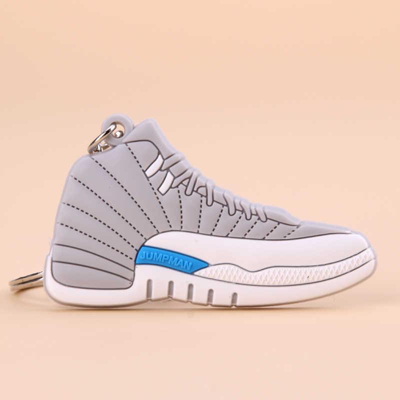 Nuovo Mini Jordan 12 Portachiavi Uomini di Scarpe Wome Bambini Anello Chiave Del Regalo di Basket Della Scarpa da Tennis Catena Chiave di Supporto Chiave Porte Clef