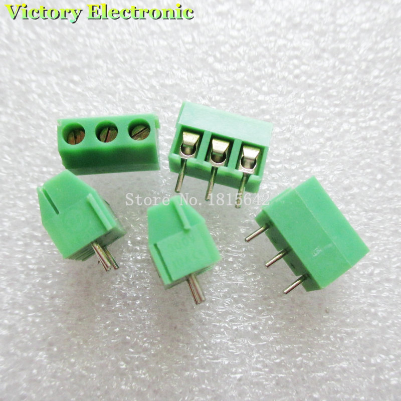 10PCS/LOT KF396-3P KF3.96-3P 300V 10A Screw 3Pin 3.96mm Straight Pin PCB Screw Block 24-18A WG