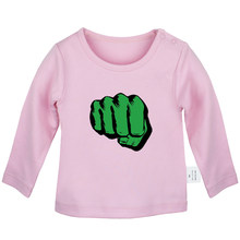 Incredible Hulk Fist One Piece Brook Nami Tattoo ONYX Cute Plastikman Newborn Baby T-Shirts Toddler Graphic Long Sleeve Tee Tops(China)
