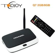 2 GB/8 GB TV BOX Q7 RK3188T Quad Core Android 4.4 TV Box Mini PC Bluetooth Inteligente Media Player HDMI WIFI Con Mando a distancia Q7