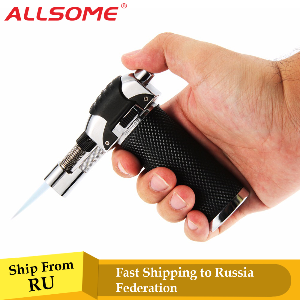 Butane Gas Micro Jet Blow Torch Lighter Welding Burning Iron Heating Blowtorch Cooking Soldering Brazing Refillable Tool HT1181