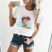 ZOGANKIN Women T Shirt Casual Large Size S-2XL Loose Fashion Tops Tees Harajuku Short Sleeve Female Summer Cartoon Funny T-Shirt все цены