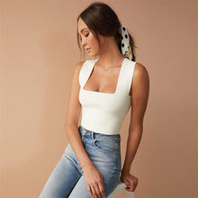blusas mujer de moda 2019 women's blouse shirt Women Casual Sleeveless Summer Tank Crop Tops Ladies Bustier Blouse Vest T-Shirt(China)