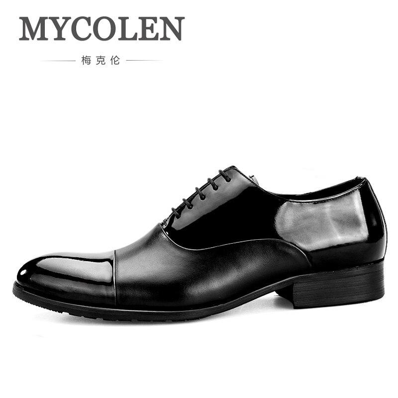 245edd816c8 mycolen 2018 new fashion business dress men shoes classic men s business  suits shoes lace up elegant men dress shoes scarpe купить по лучшей цене