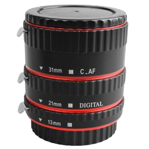 Red Metal Monte Foco Automático AF Macro Extension Tube/Anel para Kenko Canon Lente EF-S T5i T4i T3i T2i 550D 600D 60D 70D 100D 6D 7D