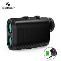 Prostormer 800 1000 1200m Monocular Telescope Laser Rangefinder Golf Hunting Laser Distance Height Angle Meter USB