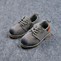 2017 Весна Дети PU Кожаные Shoes Мальчиков и Детские Случайные Shoes Suede Дети Дышащие Низкие Мартин Одиночные Shoes For Girls
