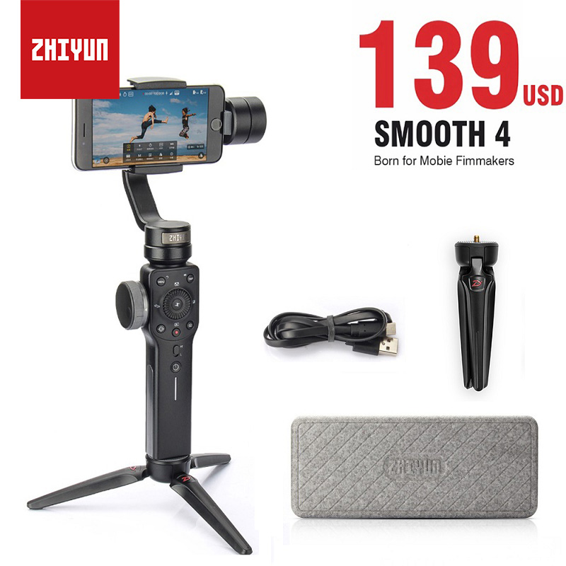 Zhiyun Smooth 4 Smartphone Stabilizer 3-Axis Vlog Handheld Gimbal for iPhone X Android Gopro Hero 6 sjcam YI Action vs DJI OSMO ulanzi zhiyun smooth q handheld 3 axis smartphone gimbal video stabilizer for iphone 7 samsung gopro hero 5 4 sjcam yi cameras