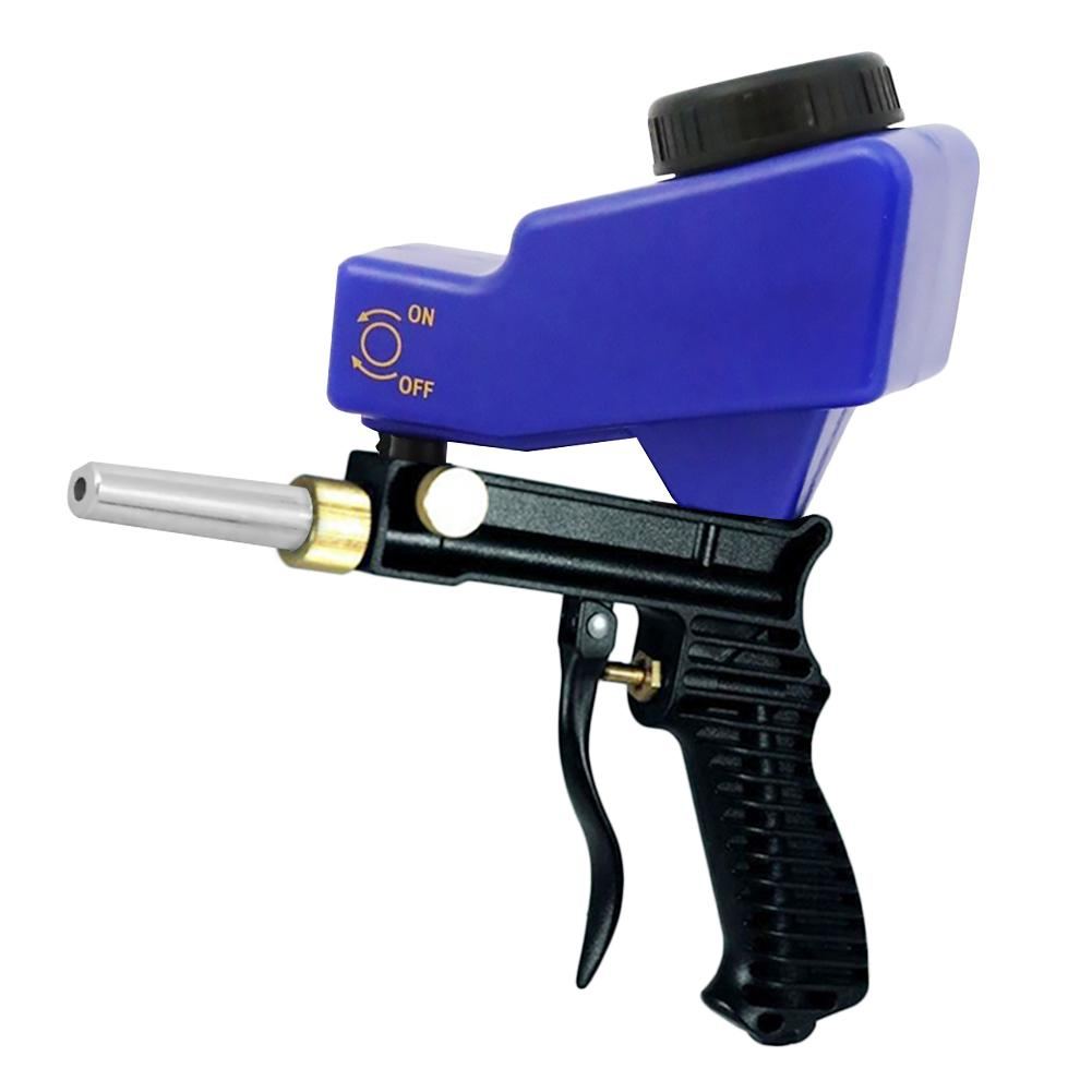 Miniature Portable Rustproof Gun Pneumatic Gravity Sandblasting Set Rust Blasting Device Small Sand Blasting Machine With Nozzle