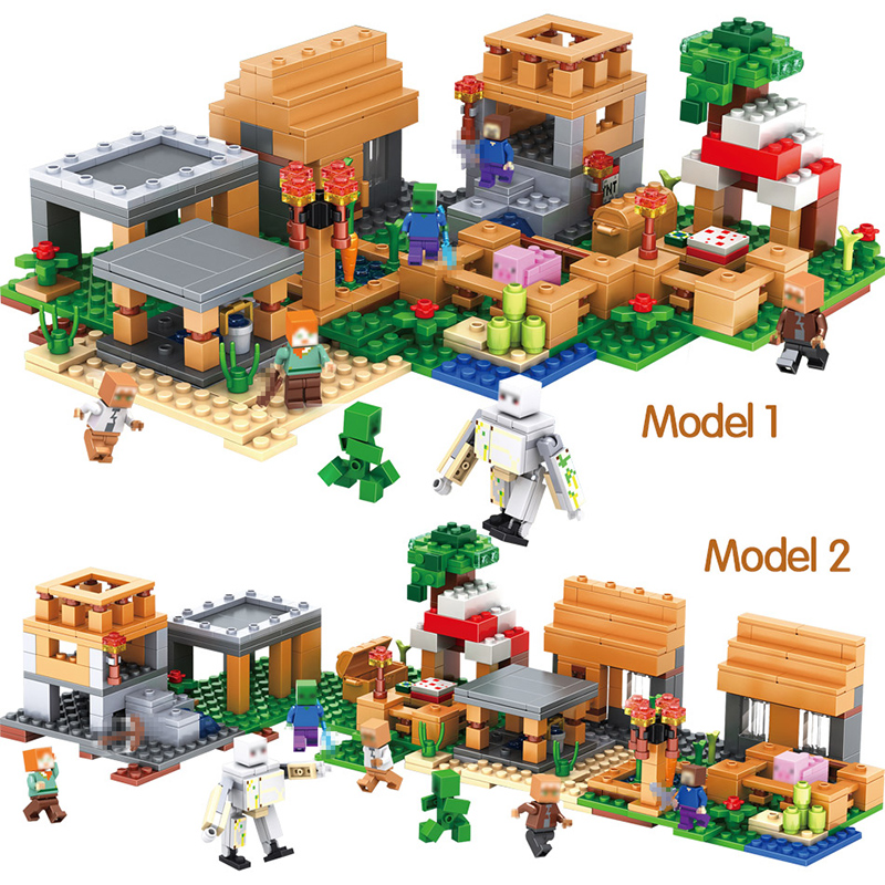 My World Village Building Blocks Compatible Legoing Minecrafter Designer Educational Bricks Toys for Children Gift 496pcs qigong legendary animal editon 2 chimaed super heroes building blocks bricks educational toys for children gift kids