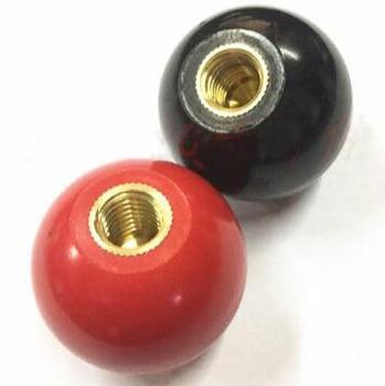цена на 10 Pcs M10 x 40mm Plastic Ball Machine Tool Accessories Console Handle Black Red