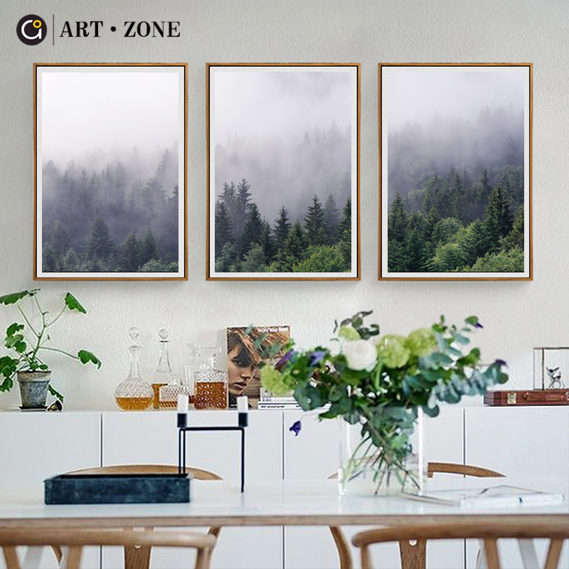 ART ZONE Nordic Ornament Canvas Portray Forest Panorama Wall Artwork Canvas Poster Print Oil Portray Residing Room Dwelling Decor Portray & Calligraphy, Low-cost Portray & Calligraphy, ART ZONE Nordic...