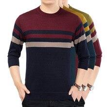Мужская Новая зимняя коллекция года, мужские цветные вязаные свитера с длинными рукавами, минималистичный тонкий мужской свитер с круглым вырезом