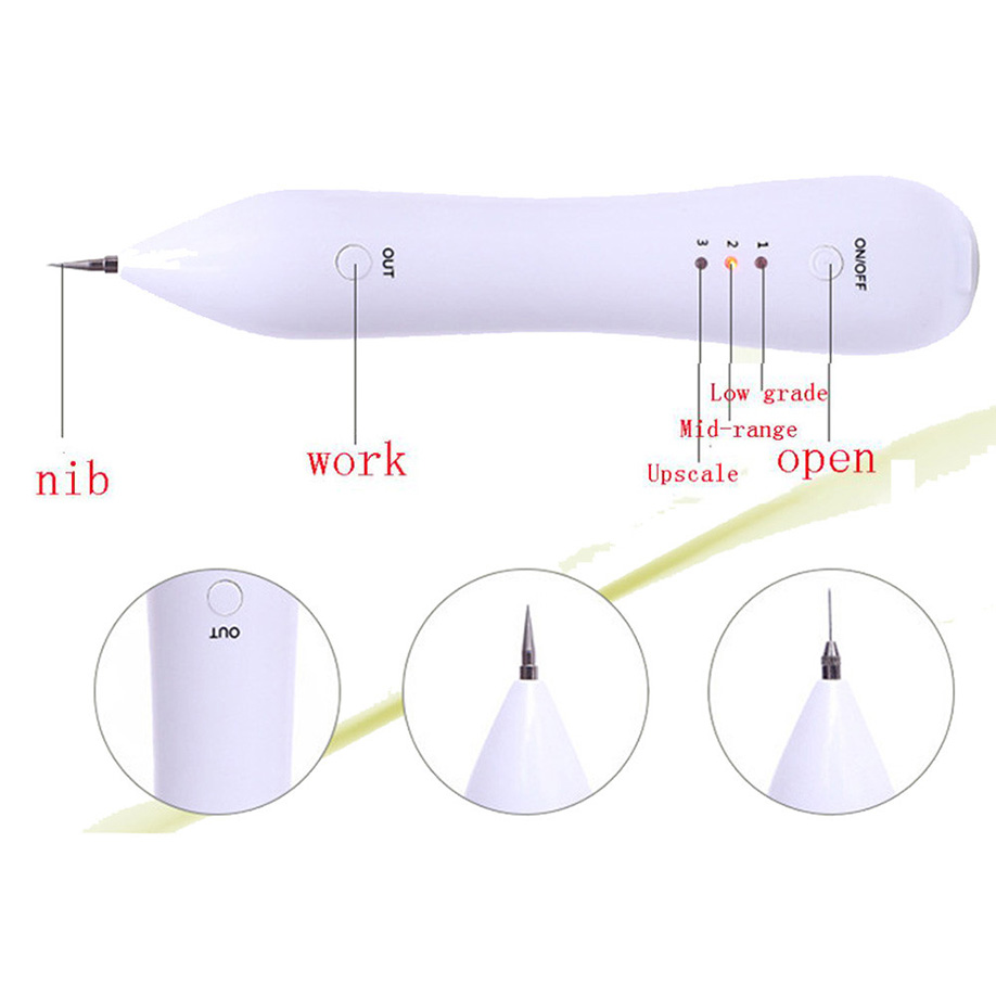 ISHOWTIENDA Point pencil pen Portable Freckle Dot Mole Dark Spot Tattoo Removal Pen Beauty Skin Machine