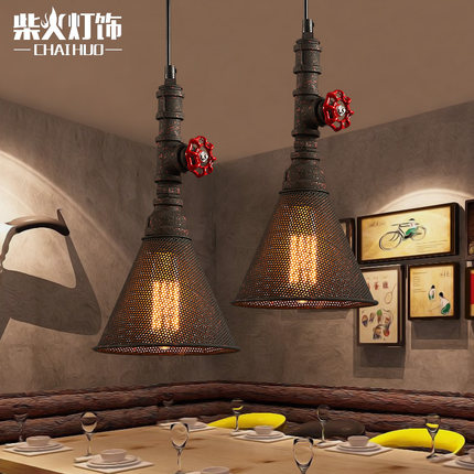American Country Industrial Vintage Loft Iron Net Shape Pendant Light Creative Restaurant Balcony Retro Light Free Shipping water pump for 495 4100 weifang diesel engine parts