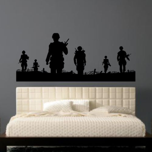 D0024 ARMY MEN wall sticker soldier man stickers transfer