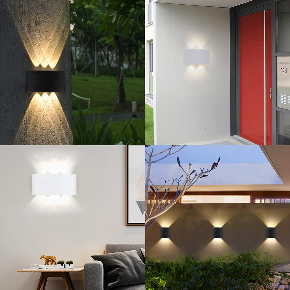 Modern Led Wall Lamp  Indoor Stair Light Fixture Bedside Loft Living Room Up Down  Home Hallway Lampada 2W 4W 6W Wall Sconces 6
